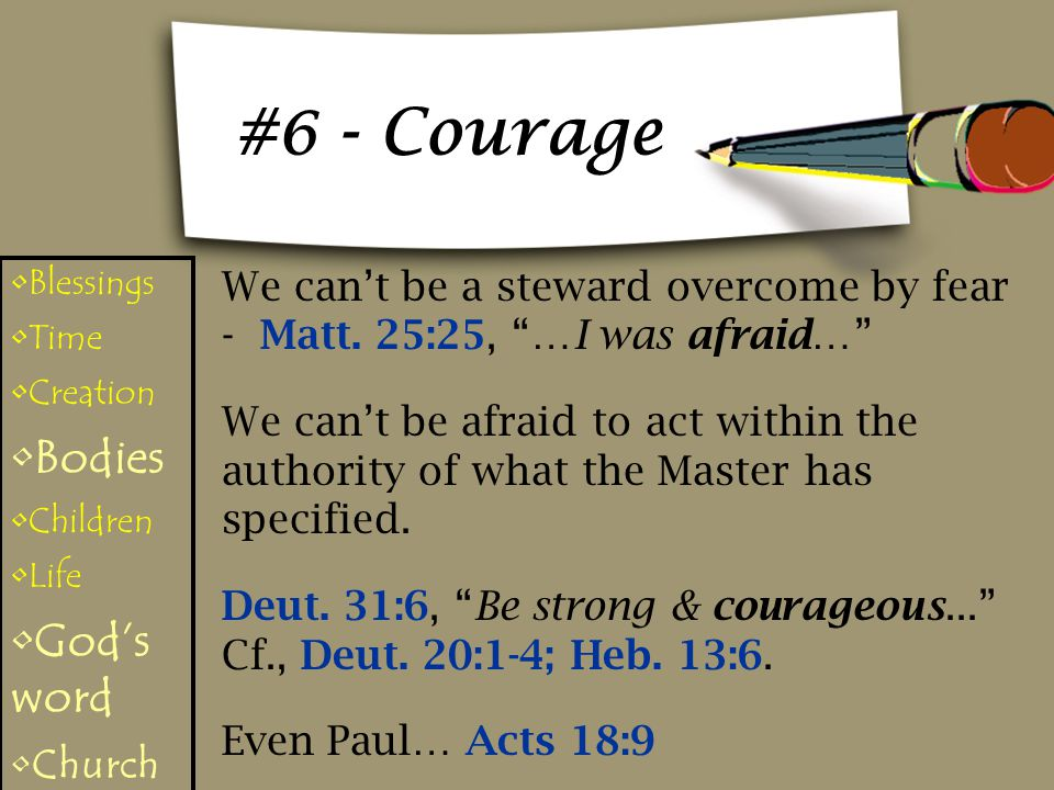 #6 - Courage Bodies God's word