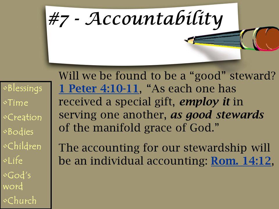 #7 - Accountability