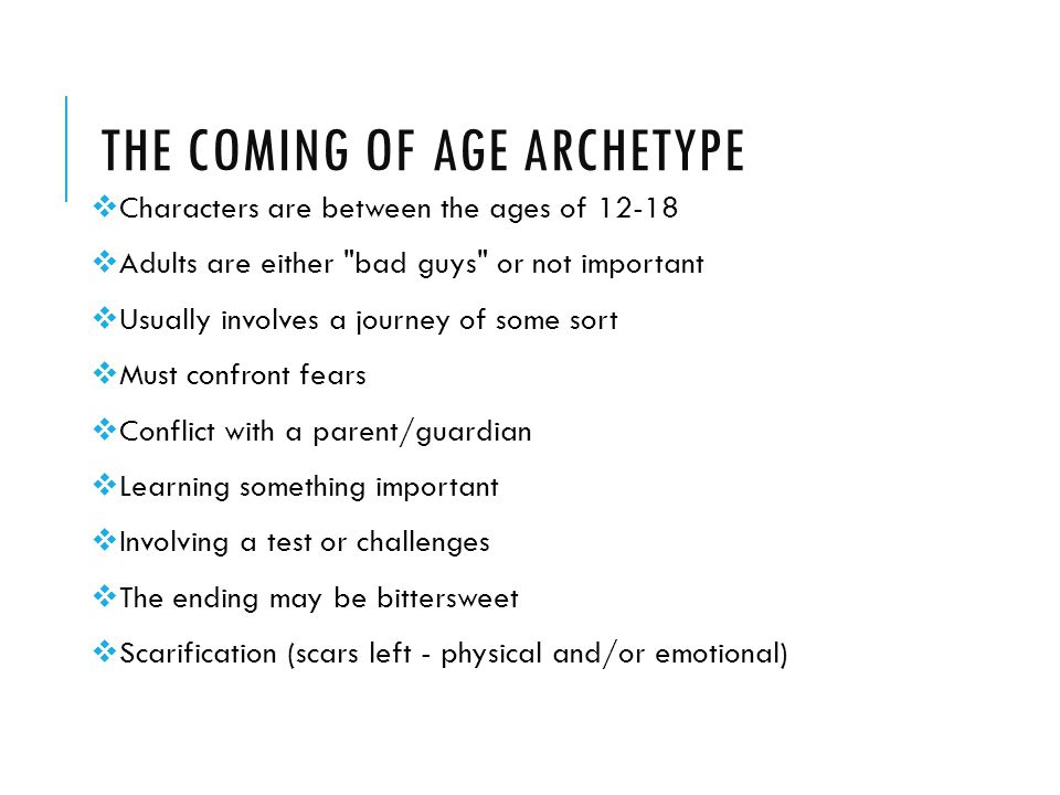 The Coming of Age Archetype