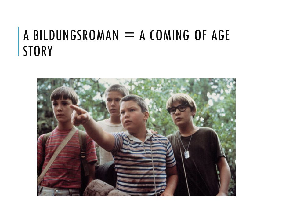 A Bildungsroman = a coming of age story