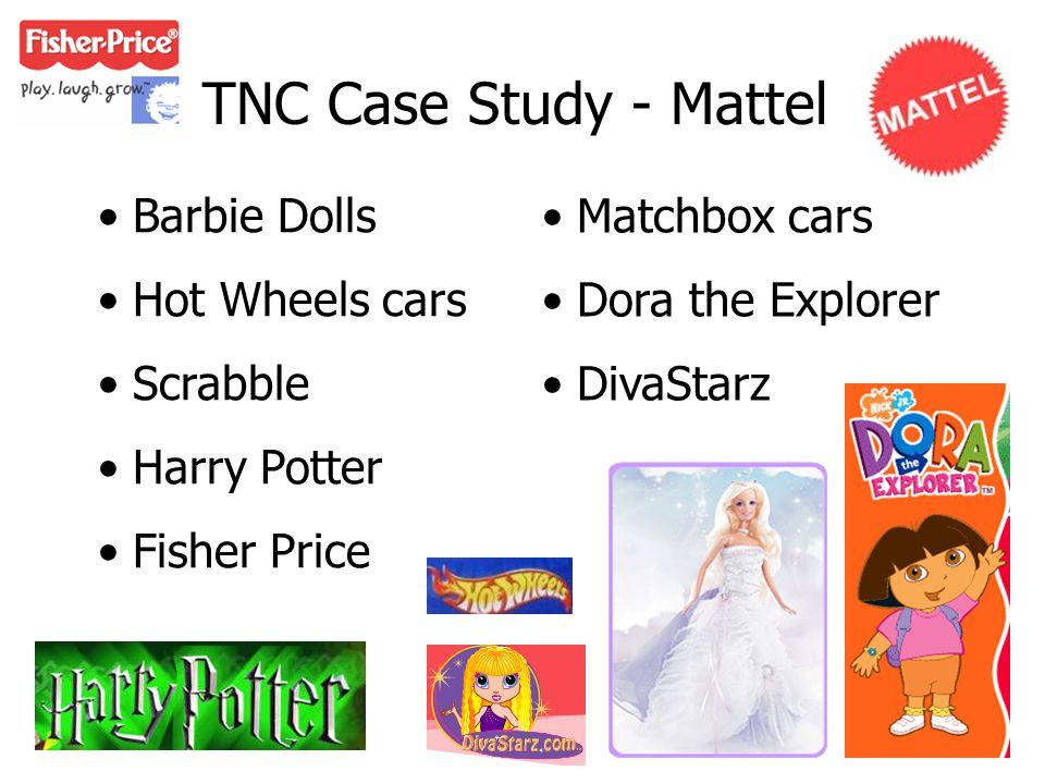 TNC Case Study - Mattel Barbie Dolls Hot Wheels cars Scrabble