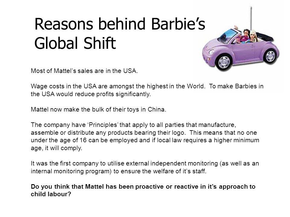 Reasons behind Barbie's Global Shift