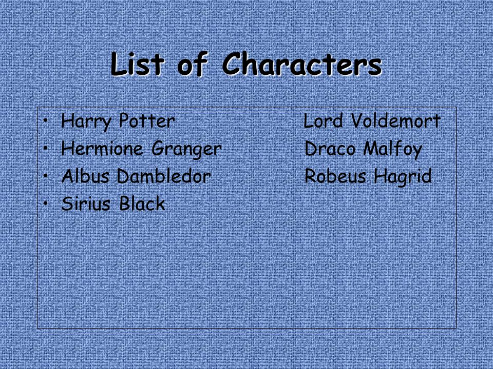 List of Characters Harry Potter Lord Voldemort
