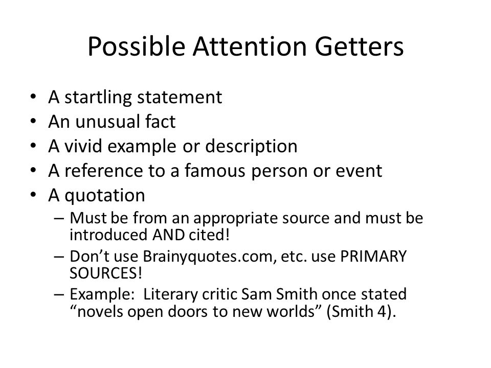 attention getter examples