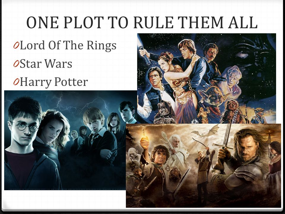 ONE PLOT TO RULE THEM ALL