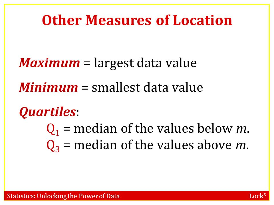 Other Measures of Location
