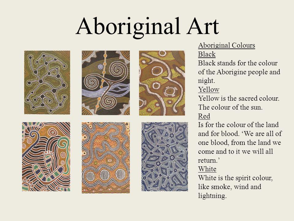 Aboriginal Art Aboriginal Colours Black