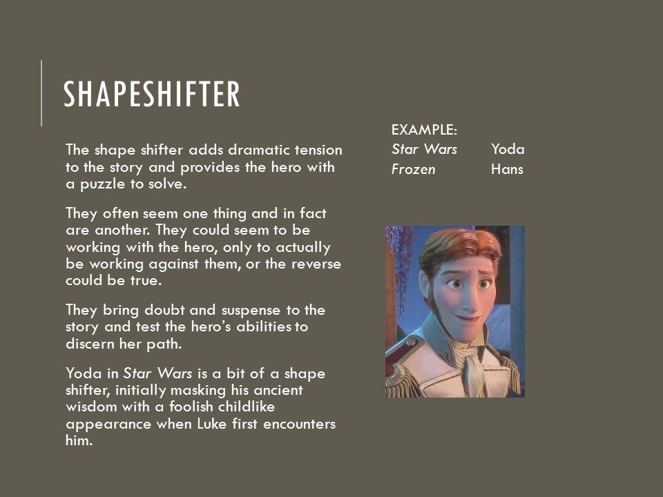Shapeshifter EXAMPLE: Star Wars Yoda. Frozen Hans.
