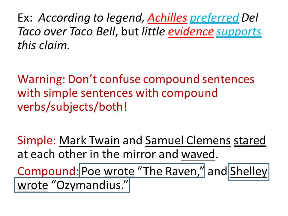 Ex: According to legend, Achilles preferred Del Taco over Taco Bell, but little evidence supports this claim.