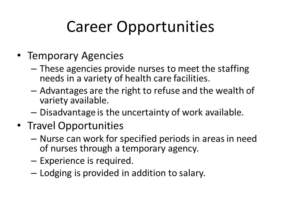 Career Opportunities Temporary Agencies Travel Opportunities