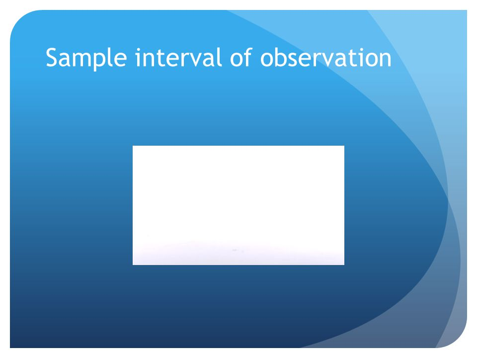 Sample interval of observation