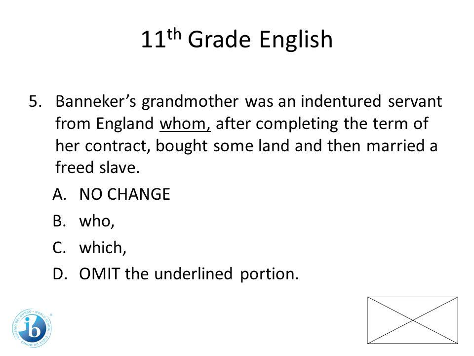11th Grade English