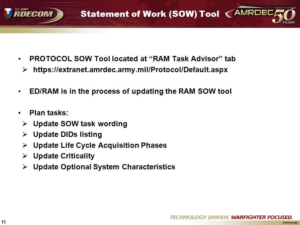 Statement of Work (SOW) Tool