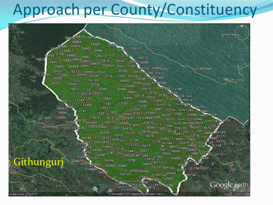 Approach per County/Constituency