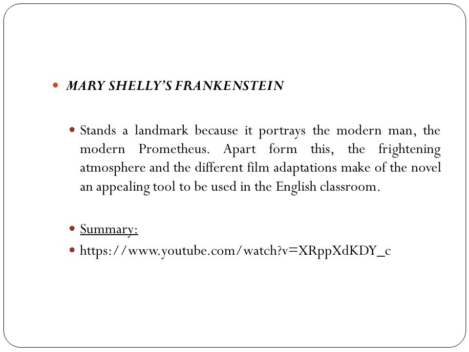 MARY SHELLY'S FRANKENSTEIN