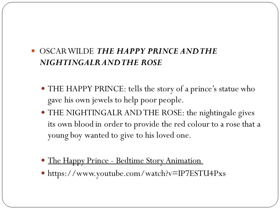 OSCAR WILDE THE HAPPY PRINCE AND THE NIGHTINGALR AND THE ROSE