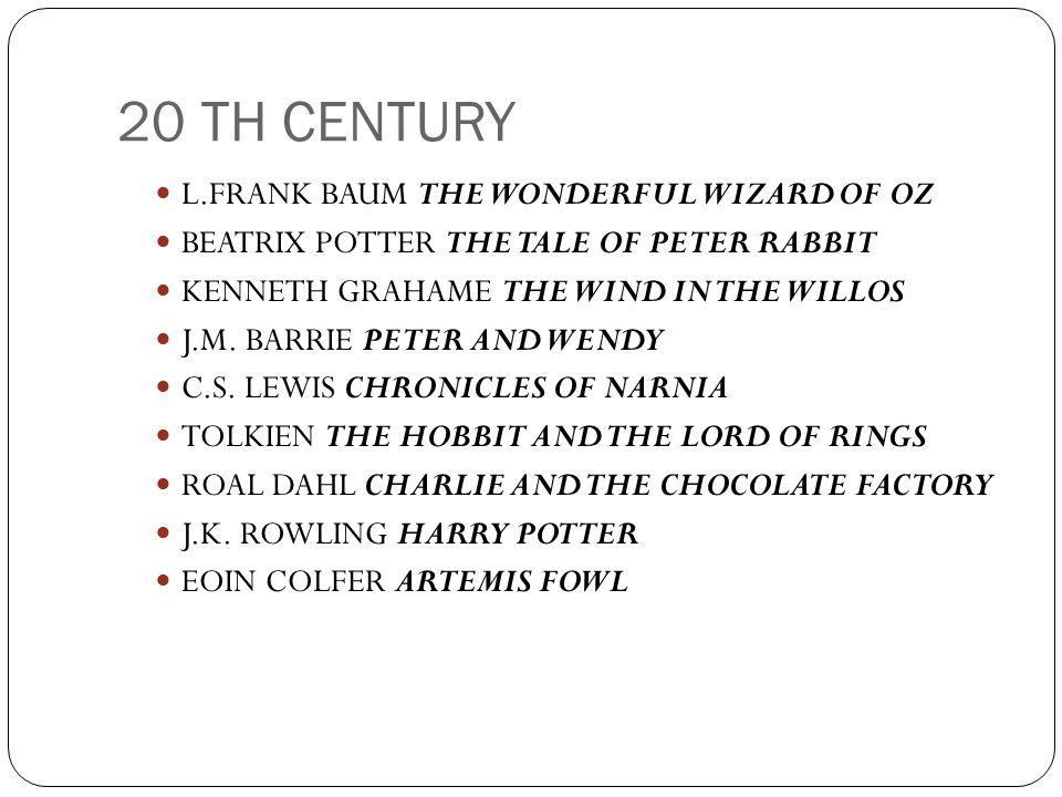 20 TH CENTURY L.FRANK BAUM THE WONDERFUL WIZARD OF OZ