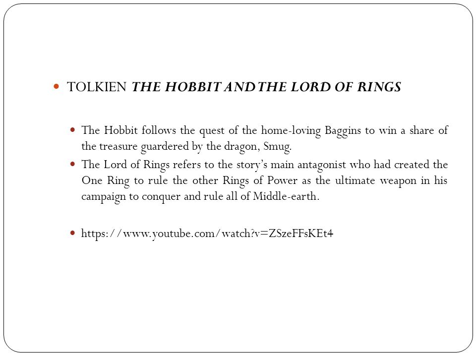 TOLKIEN THE HOBBIT AND THE LORD OF RINGS