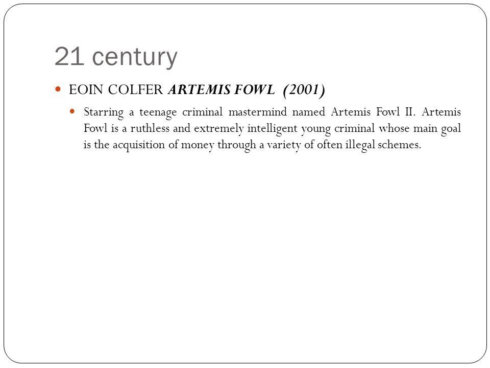 21 century EOIN COLFER ARTEMIS FOWL (2001)