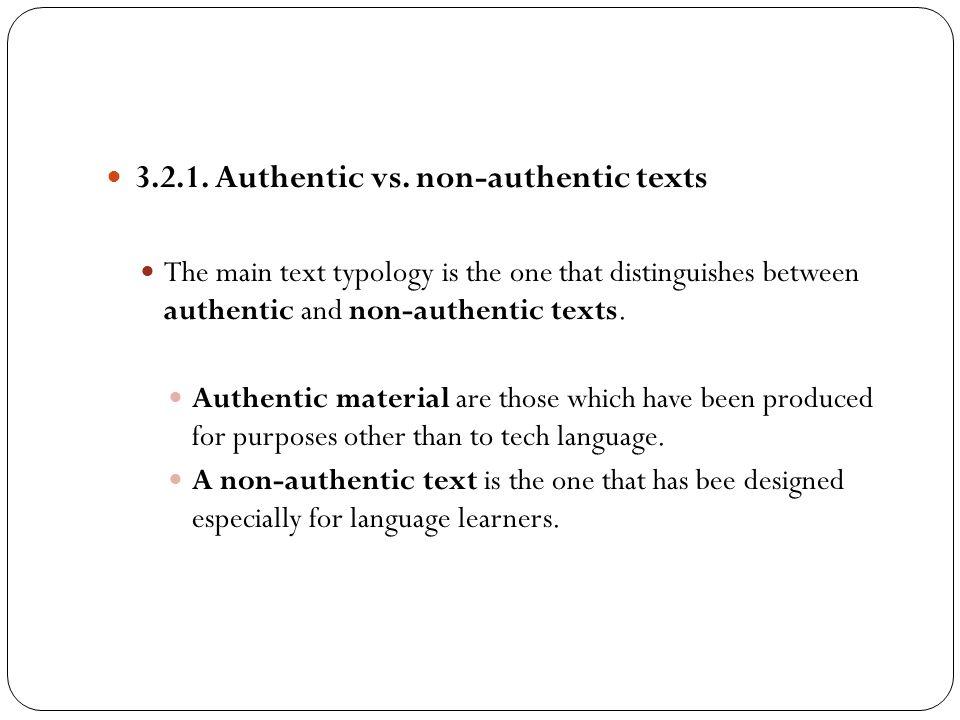 3.2.1. Authentic vs. non-authentic texts