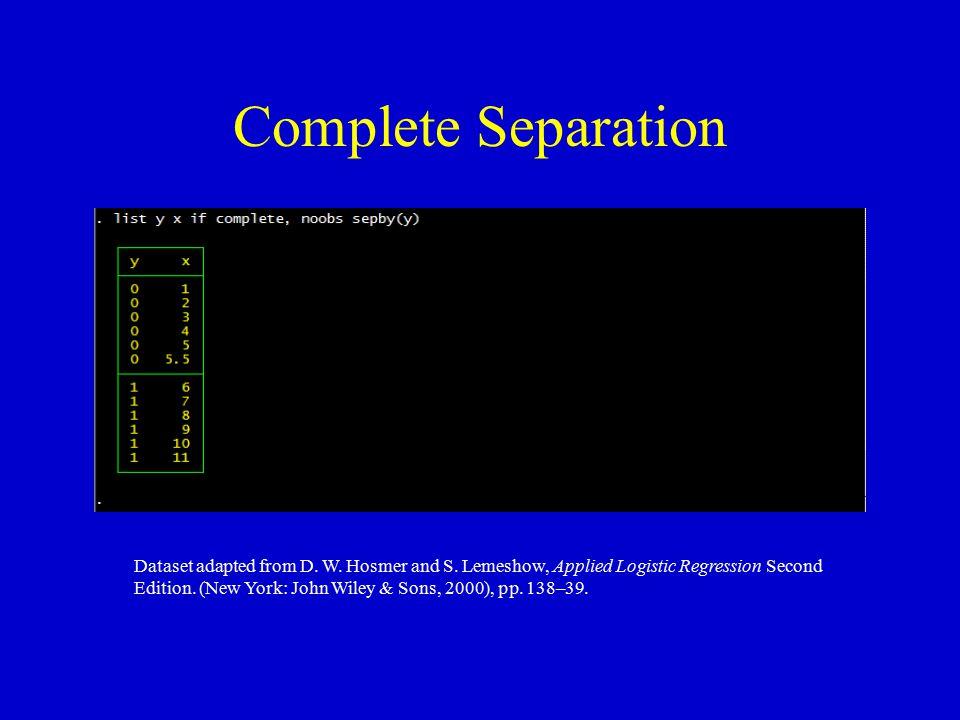 Complete Separation