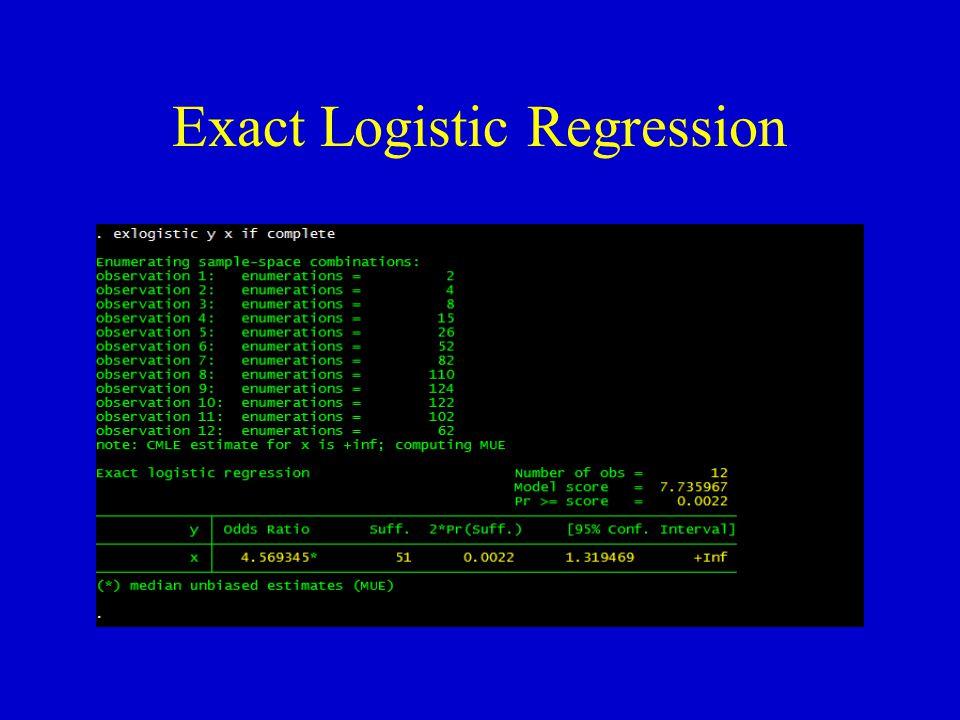 Exact Logistic Regression