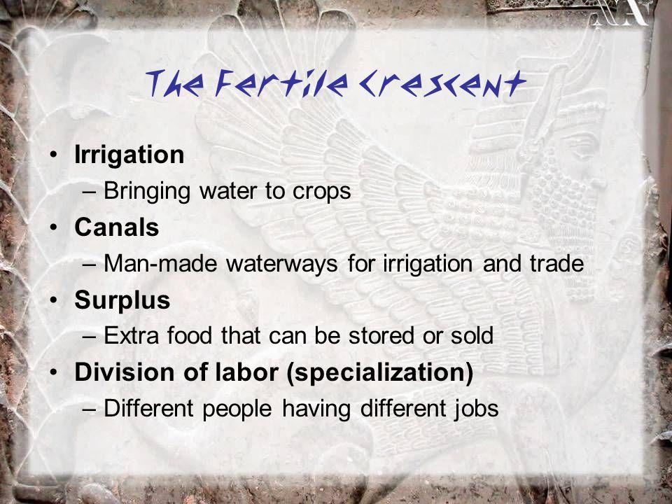 The Fertile Crescent Irrigation Canals Surplus