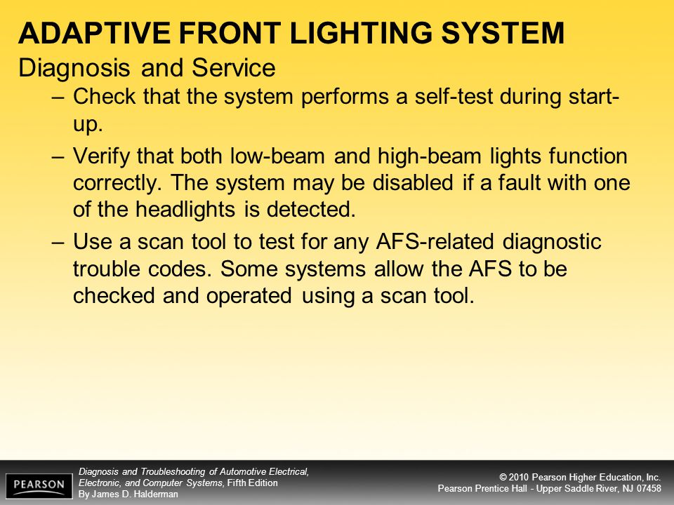 ADAPTIVE FRONT LIGHTING SYSTEM Diagnosis and Service