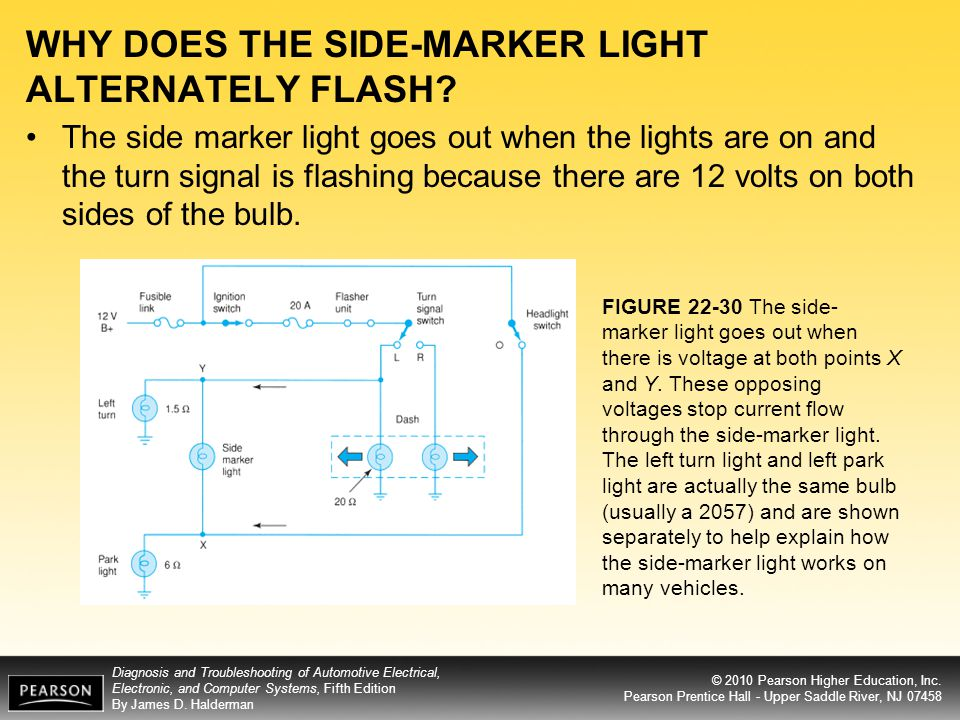 WHY DOES THE SIDE-MARKER LIGHT ALTERNATELY FLASH