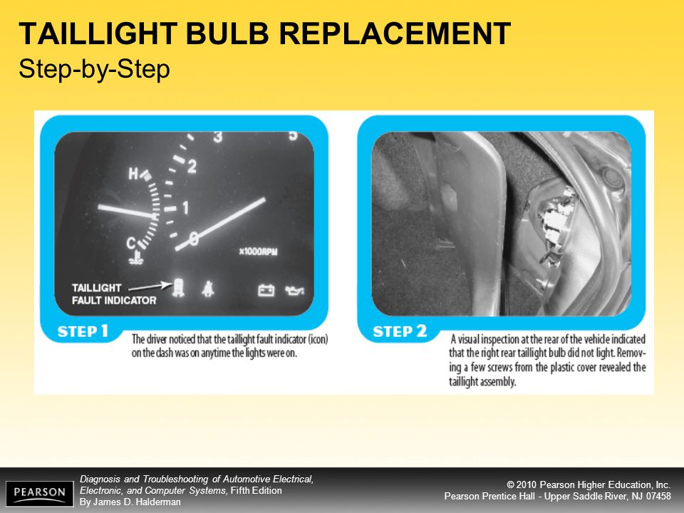 TAILLIGHT BULB REPLACEMENT Step-by-Step