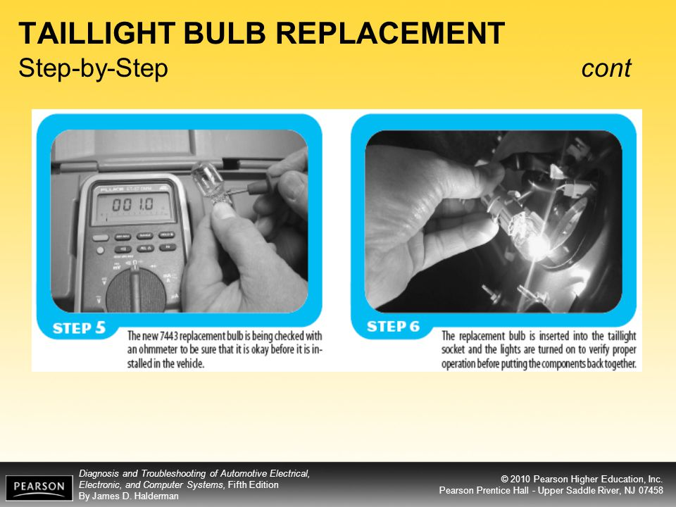 TAILLIGHT BULB REPLACEMENT Step-by-Step cont