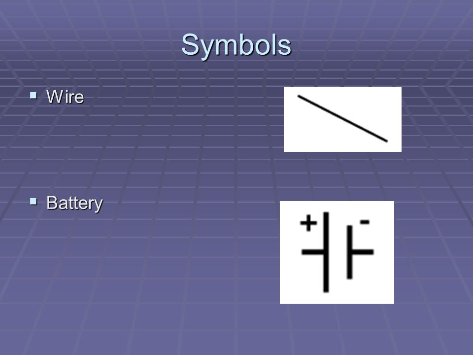 Symbols Wire Battery