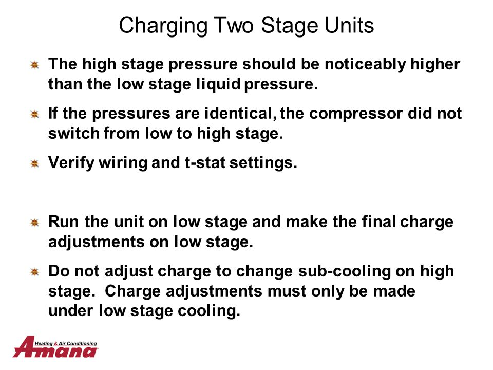 Charging Two Stage Units