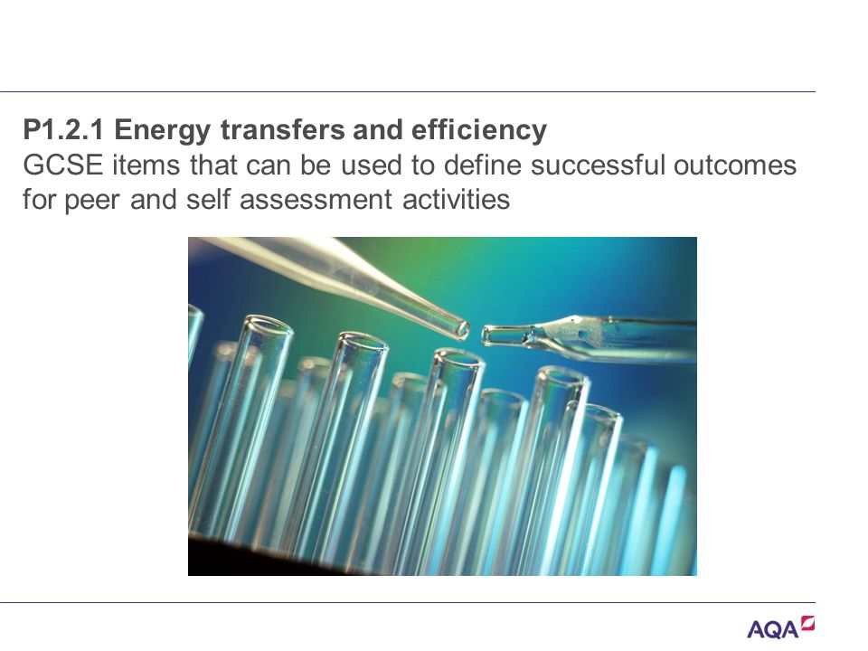 P1.2.1 Energy transfers and efficiency