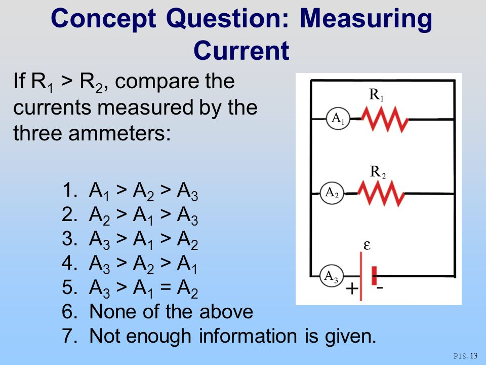 Concept Question: Measuring Current