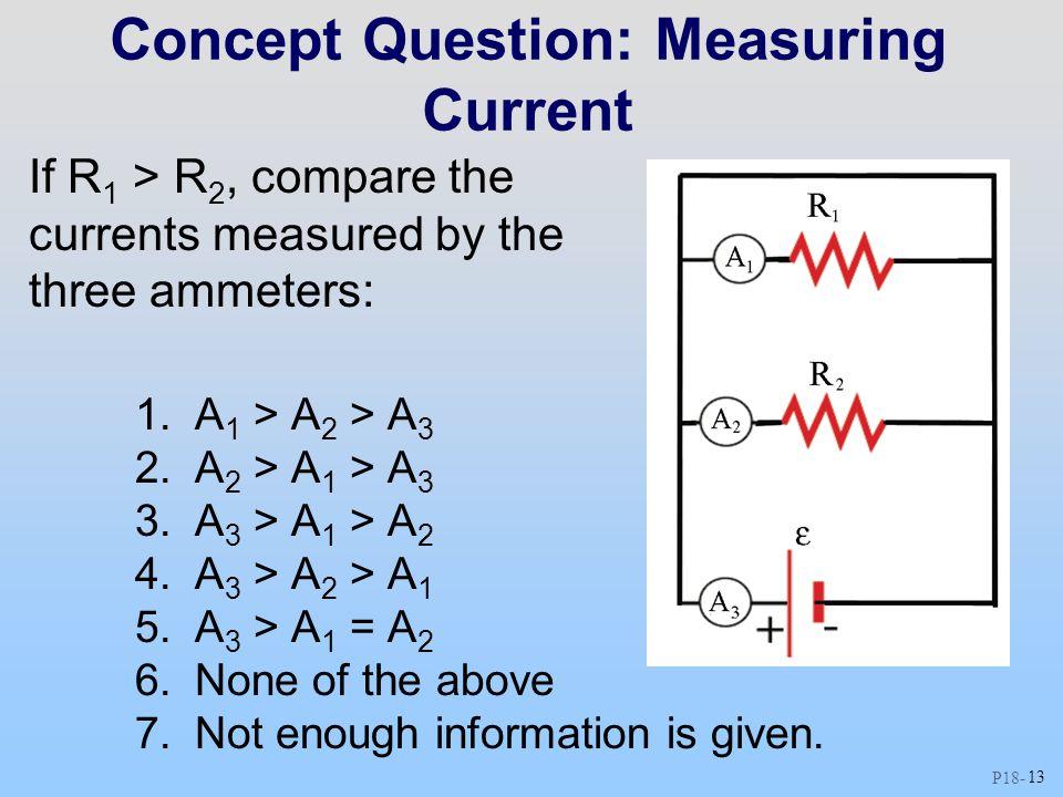 Concept Question: Measuring Current
