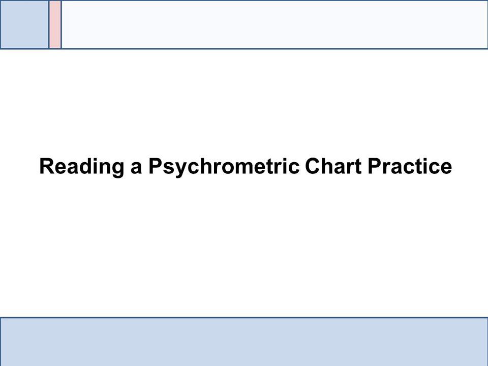 Reading a Psychrometric Chart Practice