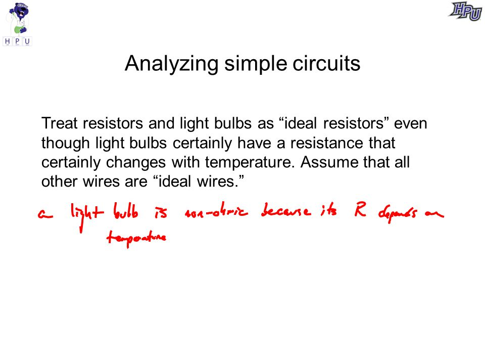 Analyzing simple circuits