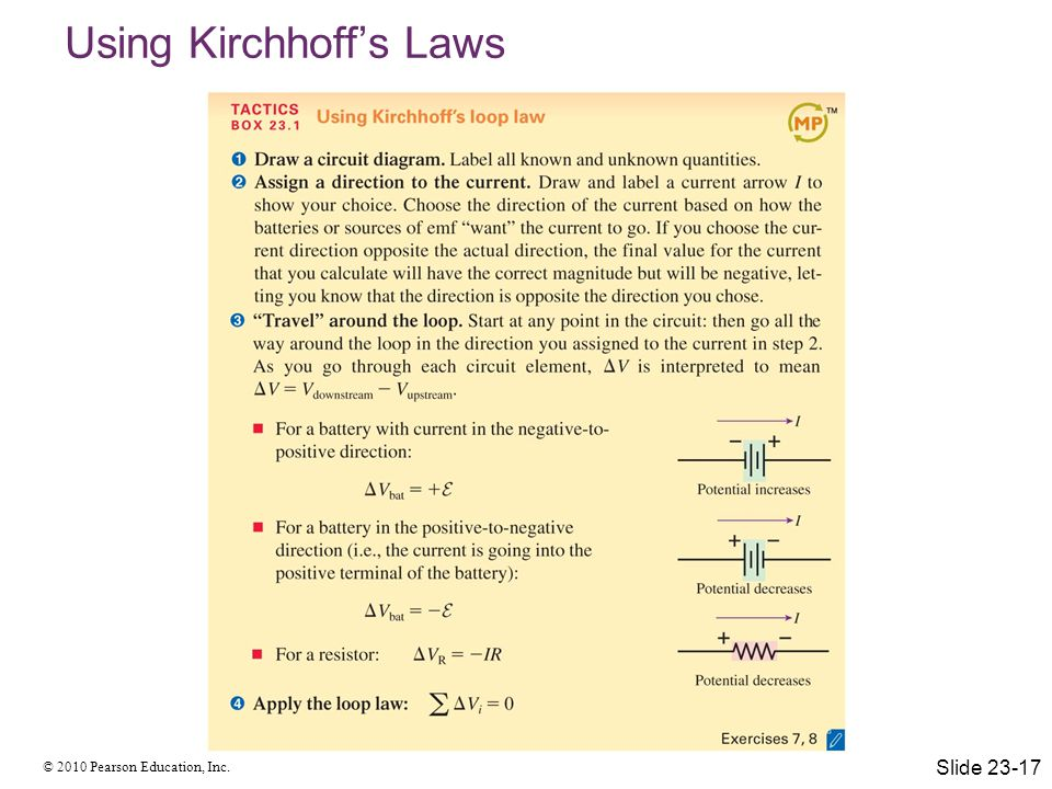 Using Kirchhoff's Laws