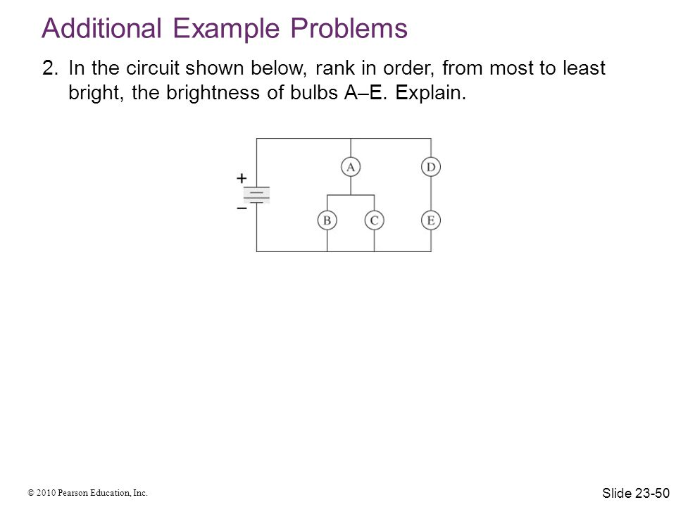 Additional Example Problems