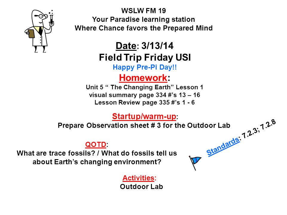 Prepare Observation sheet # 3 for the Outdoor Lab