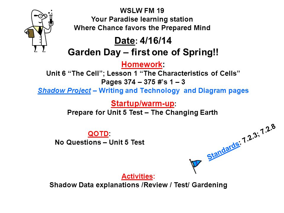 Date: 4/16/14 Garden Day – first one of Spring!!