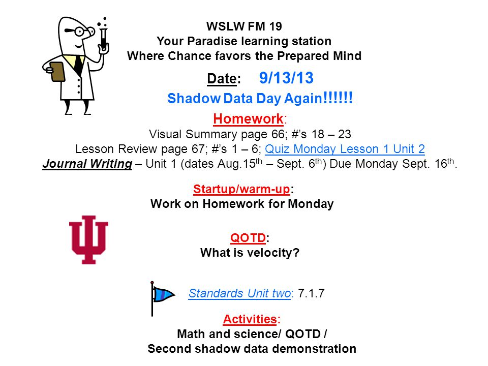 Date: 9/13/13 Shadow Data Day Again!!!!!!