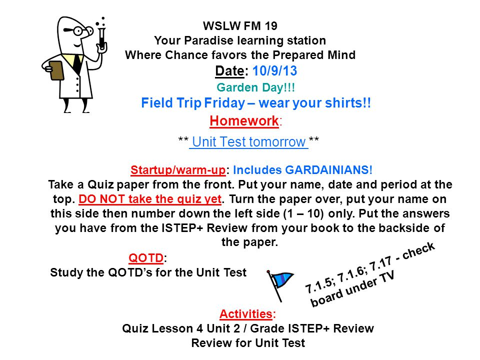 Date 81213 2 hour delay schedule ppt download homework unit test tomorrow sciox Choice Image