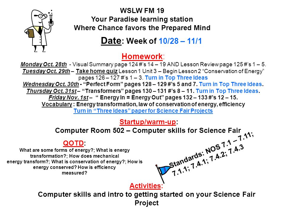Computer Room 502 – Computer skills for Science Fair