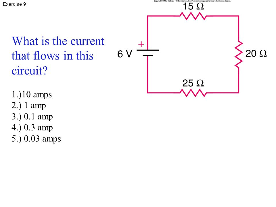 What is the current that flows in this circuit