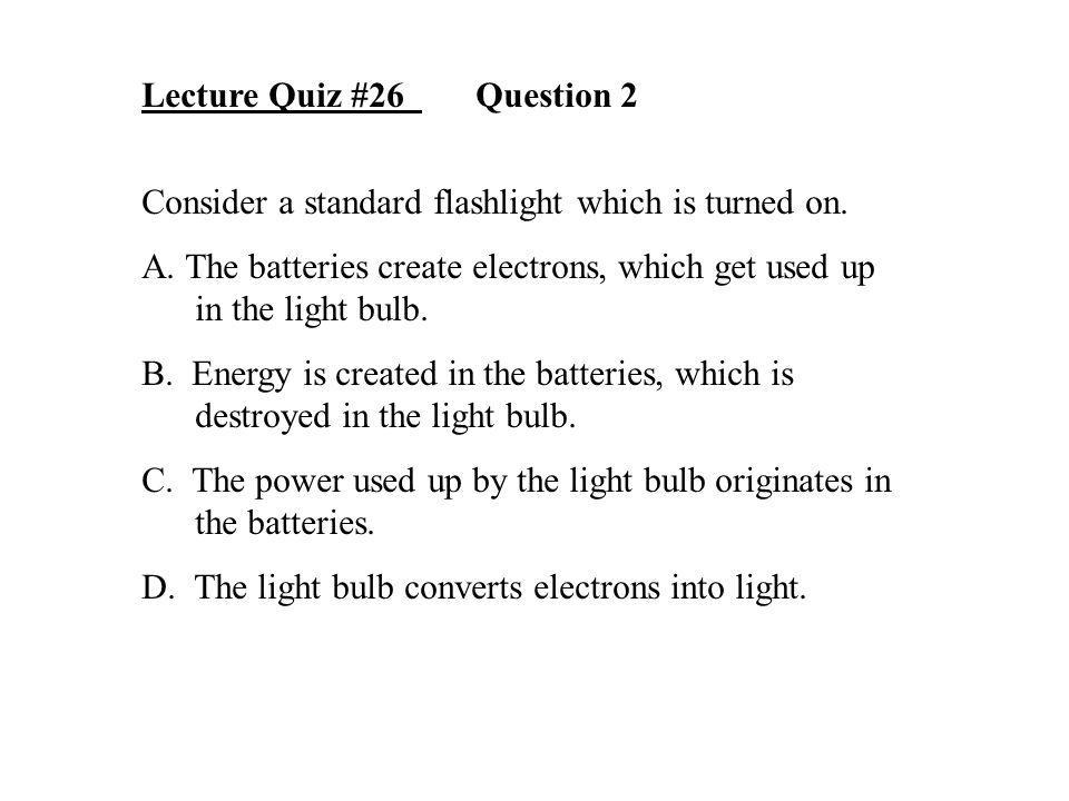 Lecture Quiz #26 Question 2