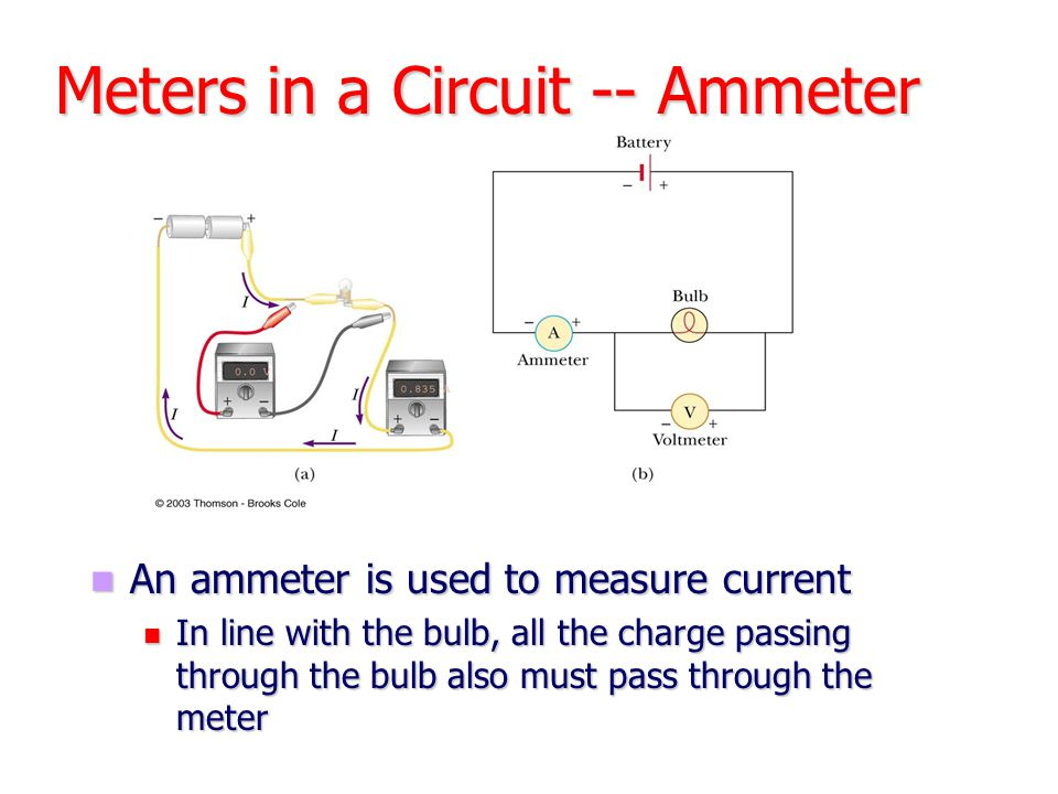 Meters in a Circuit -- Ammeter