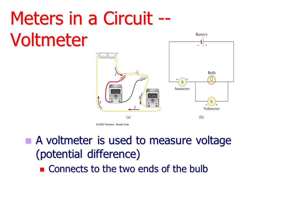 Meters in a Circuit -- Voltmeter
