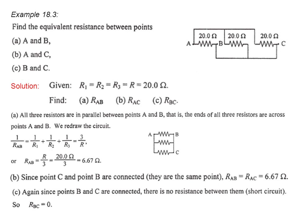 Example 18.3: Solution: